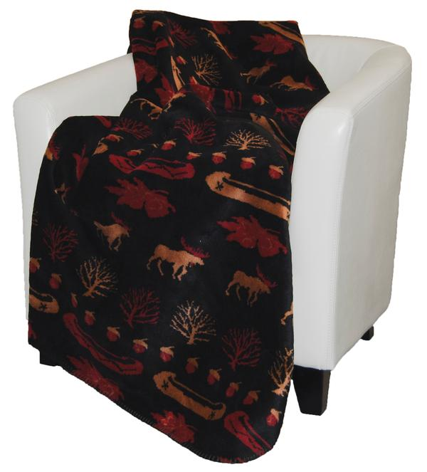 Denali Blankets Black Denali Lake Throw Blanket on Chair