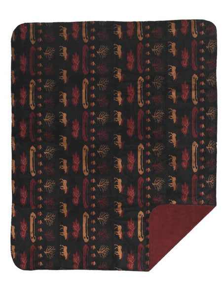 Denali Blankets Black Denali Lake Throw Blanket Front