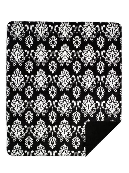 Denali Blankets Black Medallion Throw Blanket Front
