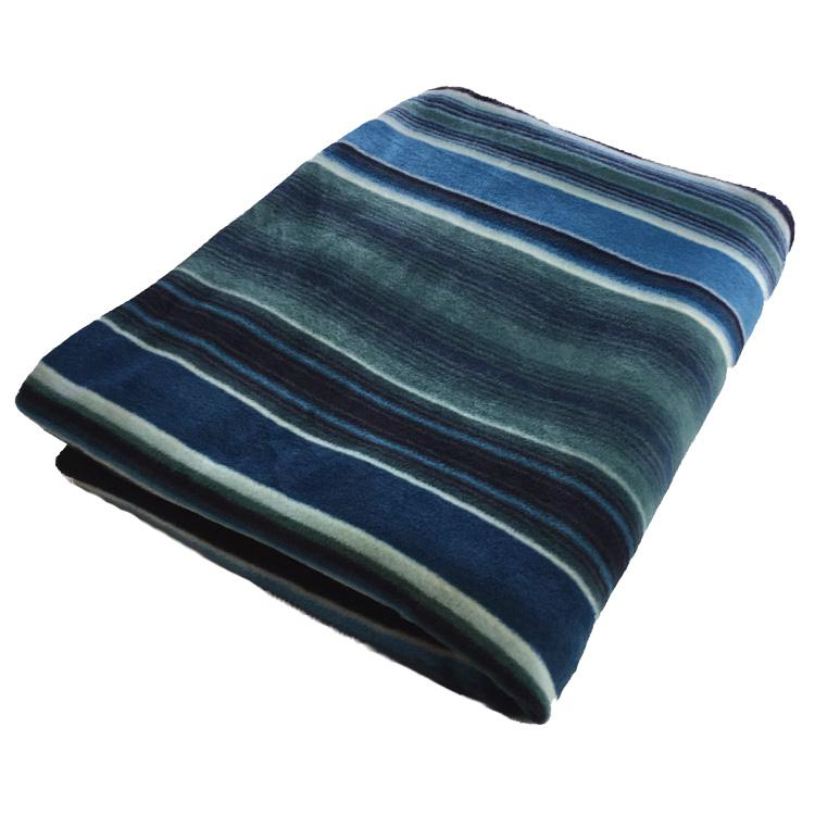 Rockmount Ranch Wear Home Blanket Stripe Blue Folded