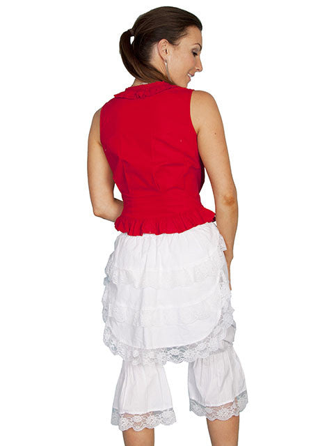 Scully Ladies Old West Rangewear White Bloomers with Bustle Back