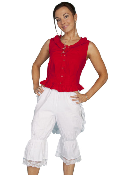 Scully Ladies Old West Rangewear White Bloomers with Bustle Front