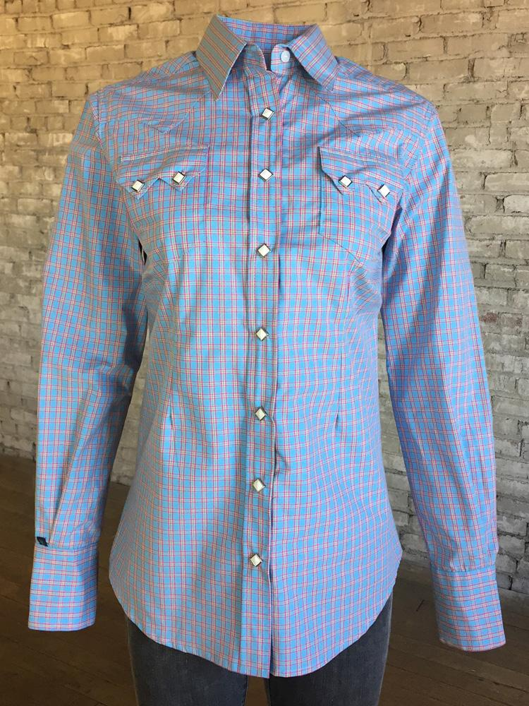 Rockmount Ranch Wear Ladies' Pastel Check Front #177934