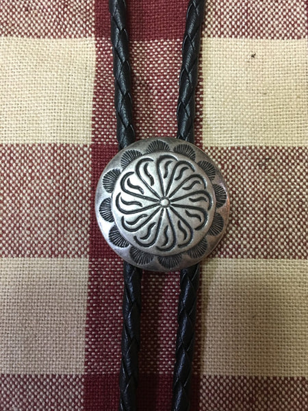 Rockmount Ranch Wear Accessory Bolo Necktie Pewter Concho