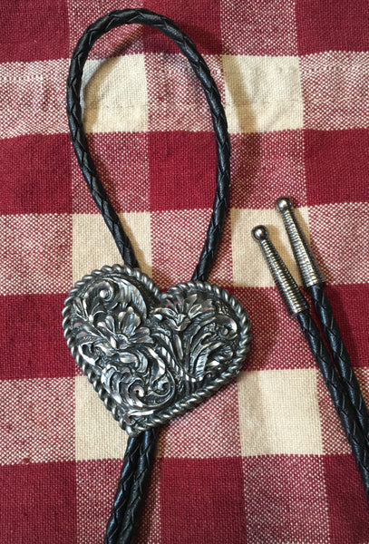 Heart Bolo on Leather Cord