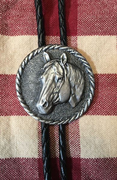 Bolo Horsehead Pewter and Brass