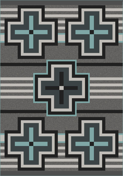 American Dakota Rug Bounty Turquoise Rectangle