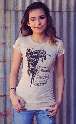 Original Cowgirl Clothing T-Shirt Brumby Busting Jr. Sizes