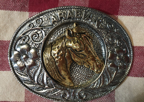Trophy Buckle Arabian Horse