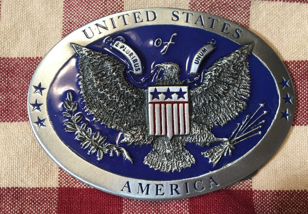 Pewter Buckle United States of America Seal