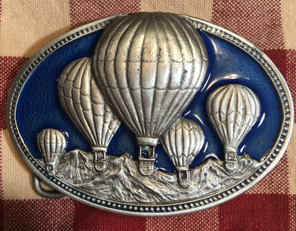 Trophy Buckle Hot Air Balloons Painted