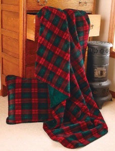 Denali Blankets Buffalo Plaid Red, Spruce, Black Front