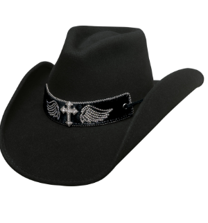 Bullhide Hats 0711BL Fashion Felt State of Grace Black