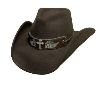 Bullhide Hats 0711CH Fashion Felt State of Grace Chocolate