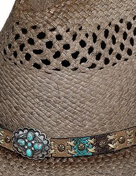 Bullhide Hats Natural Panama From The Heart Crown #5002836