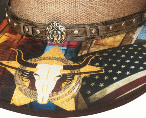 Bullhide Hats Bangora Straw I Need A Drink Front Detail #5002915