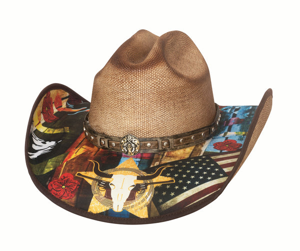 Bullhide Hats Bangora Straw I Need A Drink Front #5002915