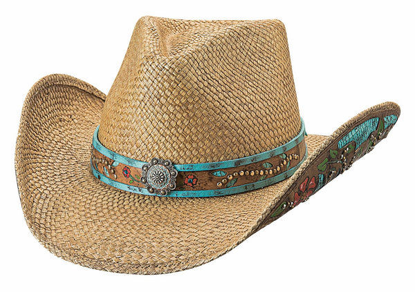 Bullhide Hats Panama Straw Natural I Trust Myself Front #5002987