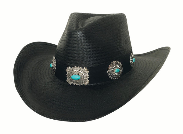 Bullhide Hats Black Panama Straw A Night To Shine #5002968