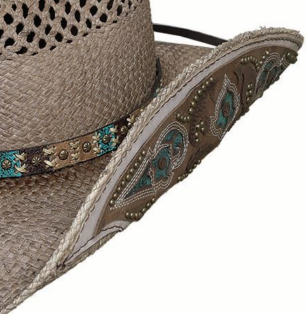 Bullhide Hats Natural Panama From The Heart Front #5002836