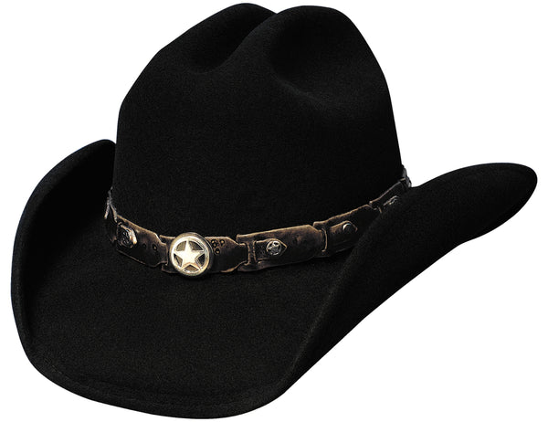 Bullhide Hats 0456BL Fashion Felt Colt 45 Black