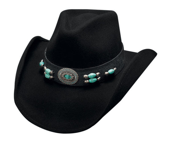 Bullhide Hats 0504BL Fashion Felt Jewel of the West Black