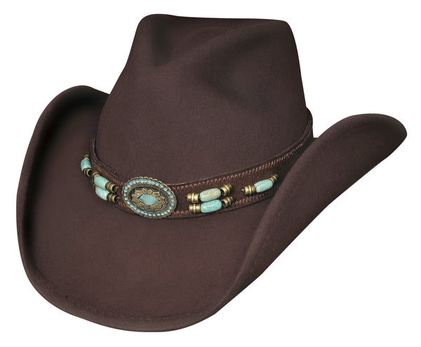 Bullhide Hats 0504CH Fashion Felt Jewel Of The West Chocolate