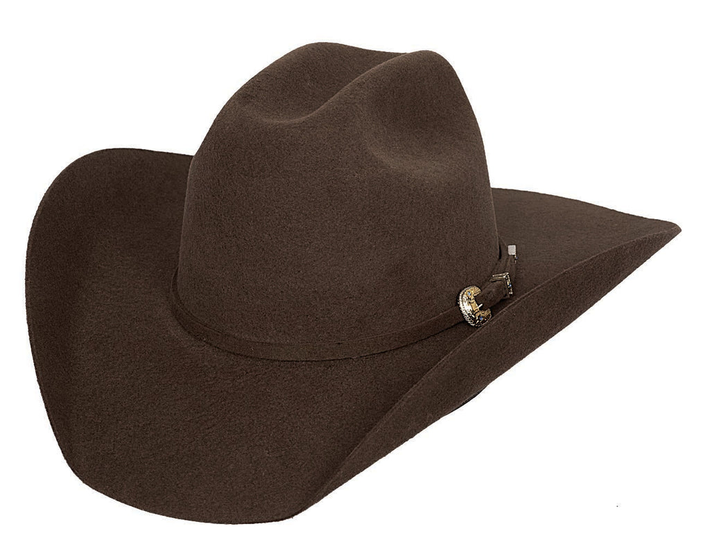 Bullhide Hats 0550CH Felt Rodeo Kingman 4X Chocolate