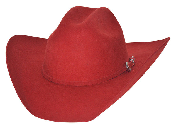 Bullhide Hats 0550R Felt Rodeo Kingman 4X Red