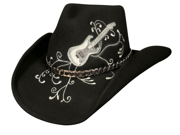 Bullhide Hats 0522BL Rock 'N' Roll Legend Black