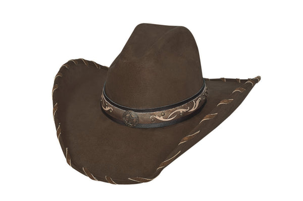 Bullhide Hats 0602CH Straight Shooter Faux Felt Chocolate