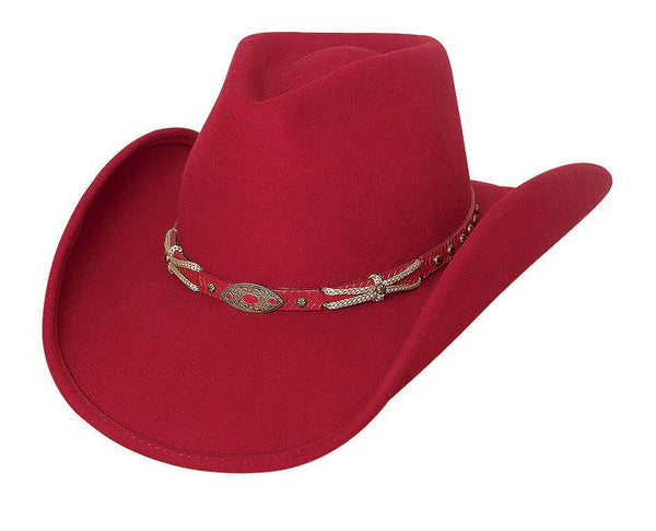 Bullhide Hats 0678R Fashion Felt Emotionally Charged Red