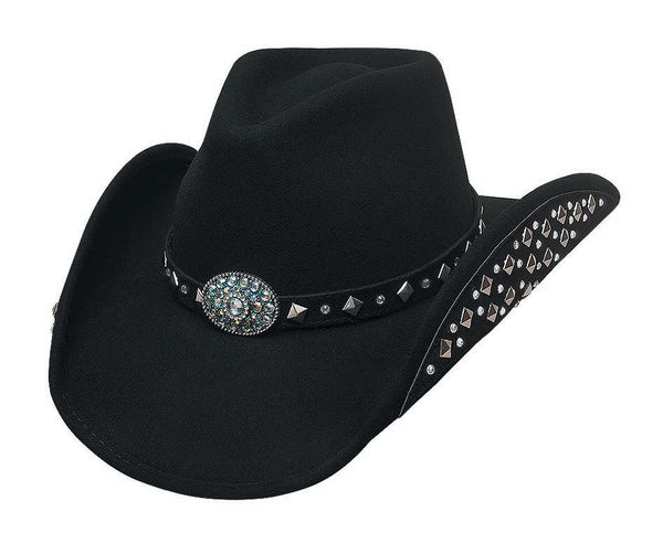 Bullhide Hats 0679BL Decorated Felt Let's Get Loud Black