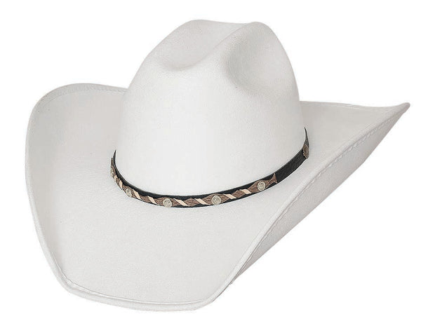 Bullhide Hats 0683 Cattle Town Faux Felt White
