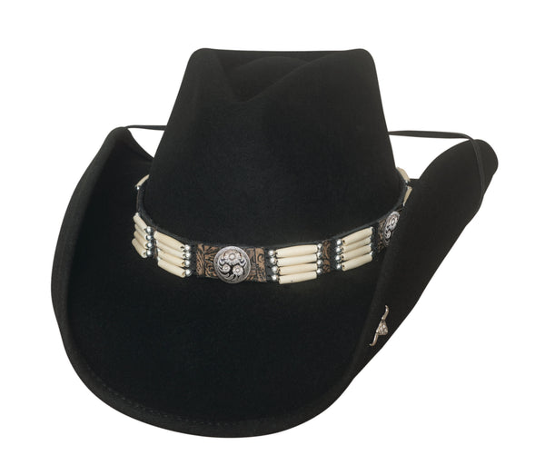 Bullhide Hats Fashion Felt Lakota Black