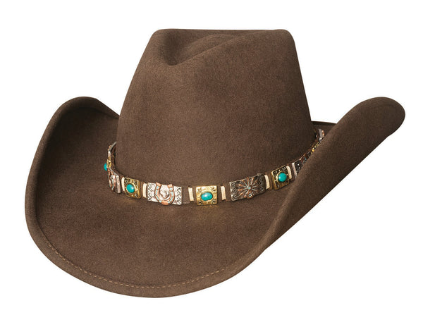 Bullhide Hats 0754CH Fashion Felt Kill The Lights Chocolate