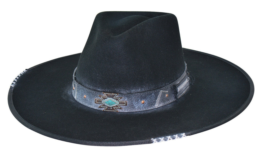 Bullhide Hats Fashion Felt Messed Up Black