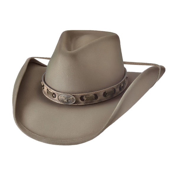 Bullhide Hats 0807BZ Fashion Felt Buckwacker Bronze