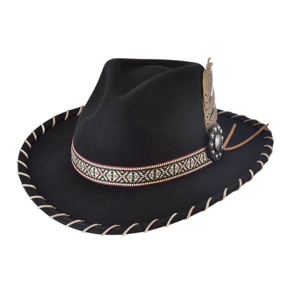 Bullhide Hats Felt Couture Collection Frenzy Black 0816BL