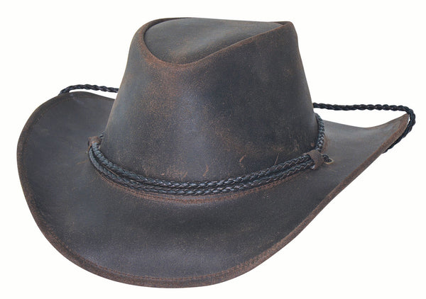 Bullhide Hats Hilltop Leather Black #5004071B