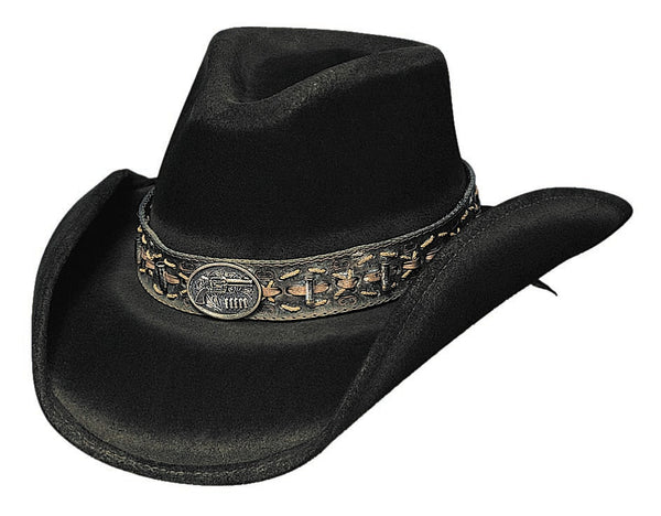 Bullhide Hats 0437BL Fashion Felt B. Kidd Black