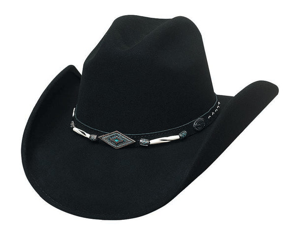 Bullhide Hats 06688 Fashion Felt Mojave Black