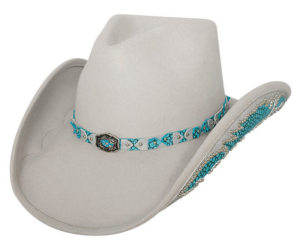 Bullhide Hats 0578SB Decorated Felt Natural Beauty Silverbelly