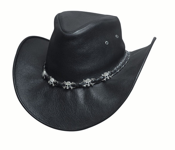 Bullhide Hats Smoke Black Leather #5004063