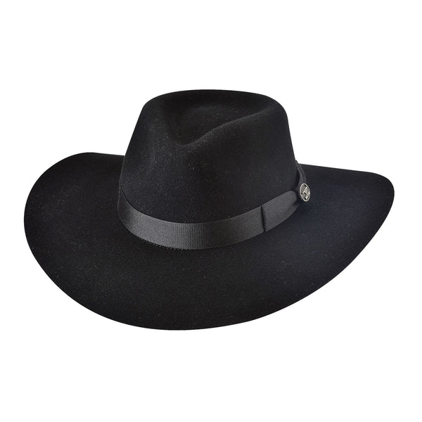Bullhide Hats 0811BL Fashion Felt Street Gossip Black