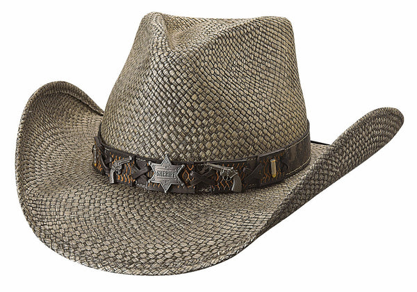 Bullhide Hats Panama Straw Law Enforcement #5002997