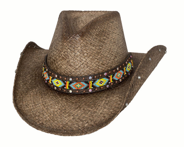 Bullhide Hats Brown Raffia Love Myself #5002882