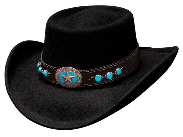 Bullhide Hats 0478BL Fashion Felt Lucky 4 U Black