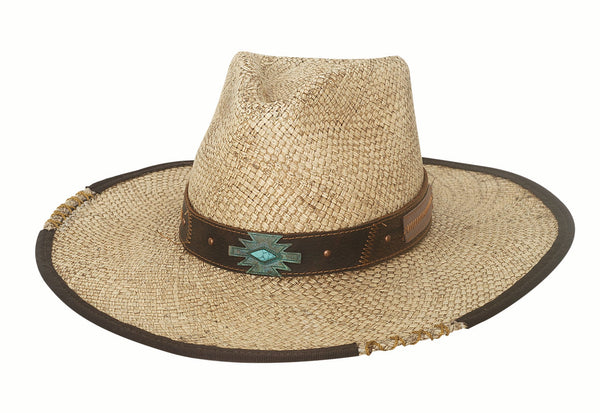 Bullhide Hats Panama Straw No Rules #5002964