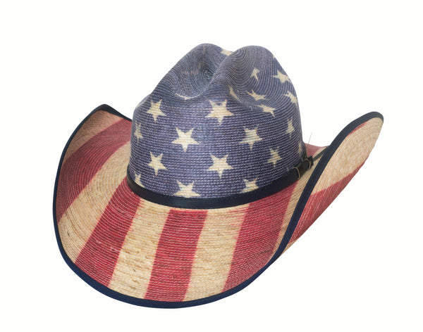 Bullhide Hats Bangora Straw Star Spangled #5002928